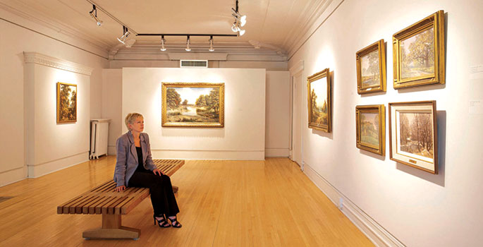 interior of Glenhyrst Art Gallery