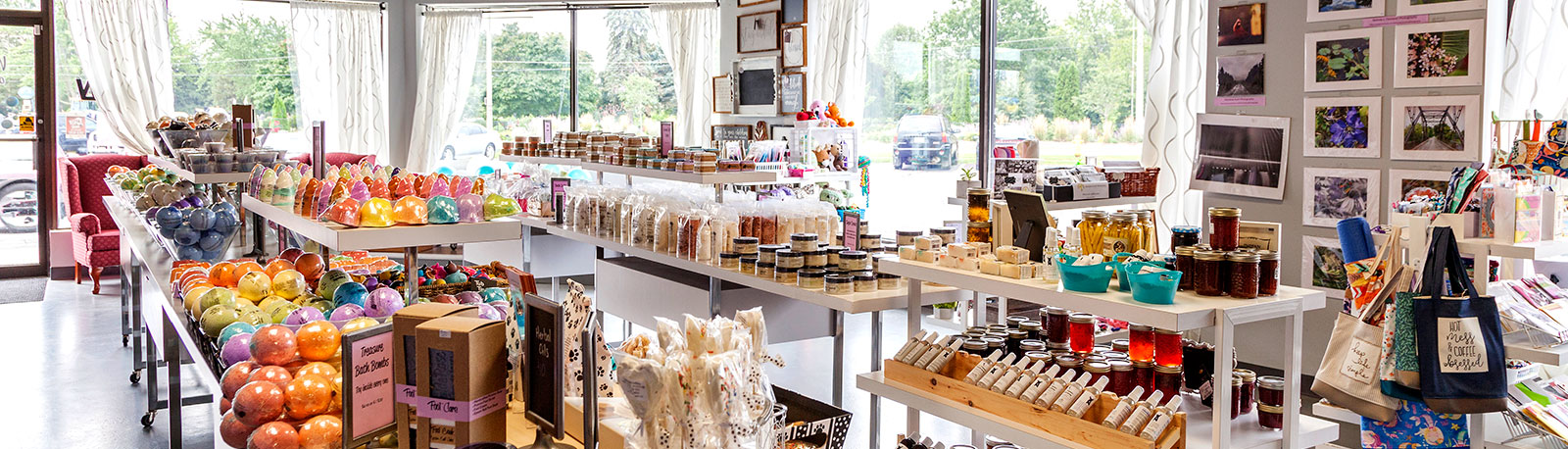 Wild Rose store interior with products