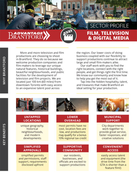 front of the Film, Television, and Digital Media sector profile