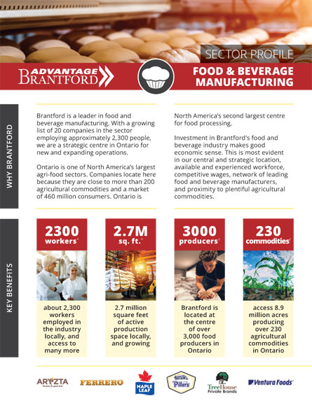 front of the Food and Beverage Manufacturing sector profile