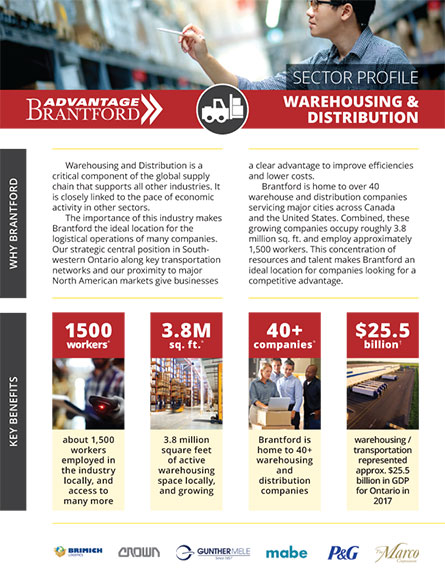 front of the Warehousing and Distribution sector profile