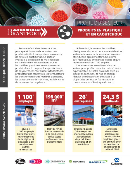 front of the Plastics and Rubber Products sector profile in French