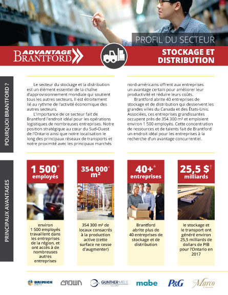 front of the Warehousing and Logistics sector profile in French