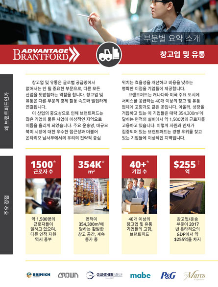 front of the Warehousing and Distribution sector profile in Korean