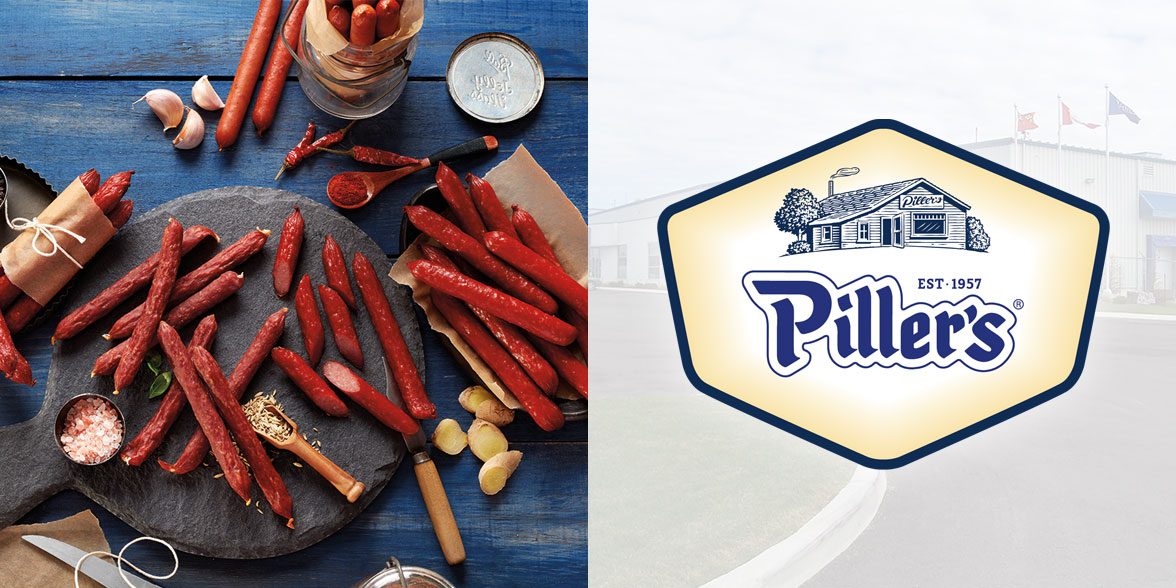 logo and products from Piller's Fine Foods