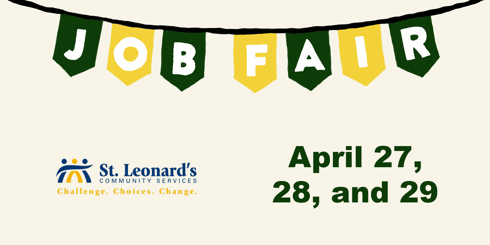 Job Fair - April 27, 28, and 29